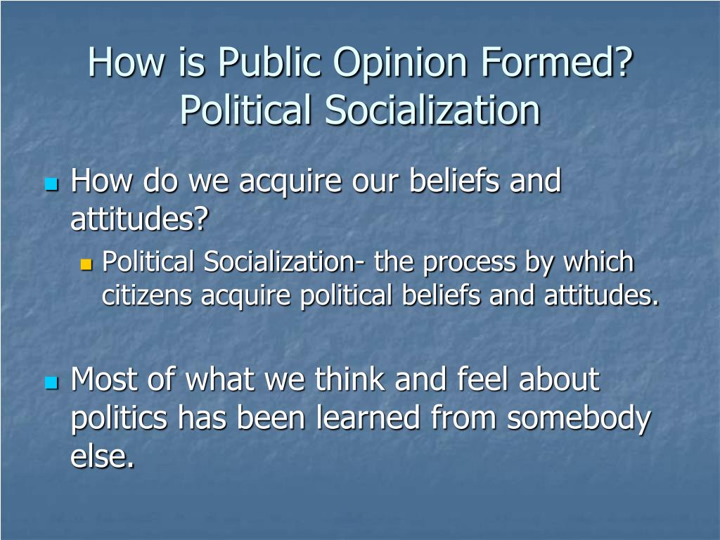 How is Public Opinion Formed? Political Socialization