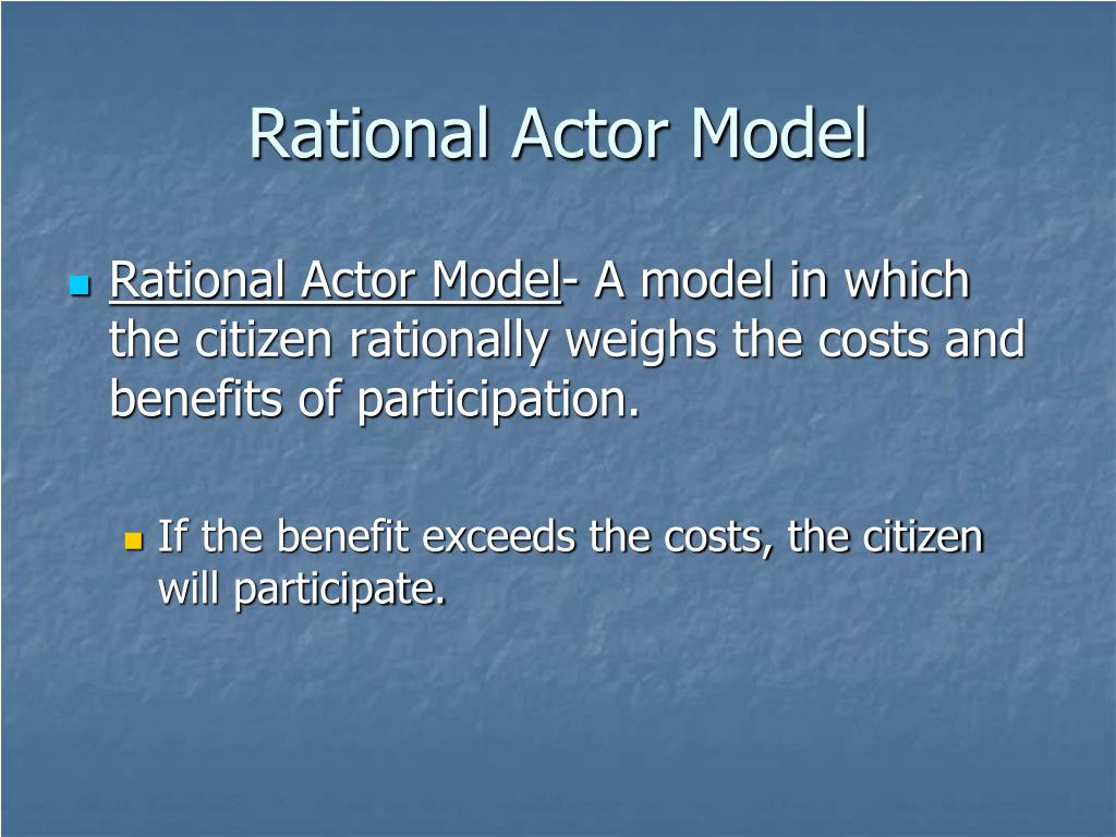 Rational Actor Model