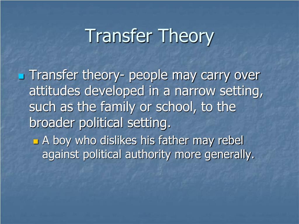 Transfer Theory