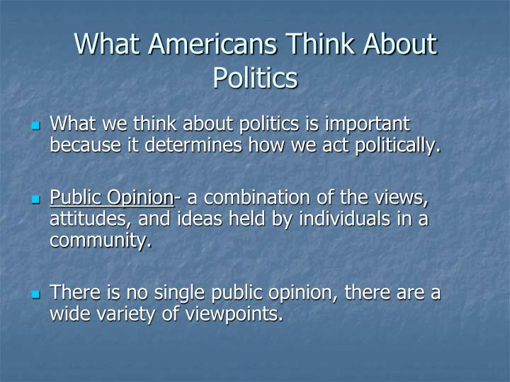 What americans think about politics