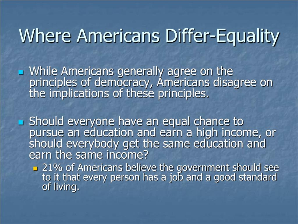Where Americans Differ-Equality