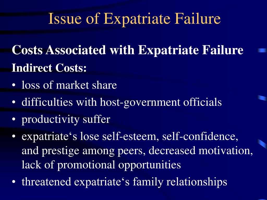 elements of expatriate compensation essay For example, the expat would receive a salary according to the host country  salary scale and participate in the host country benefits during a  housing – this is the other major element of the expat package that  summary.
