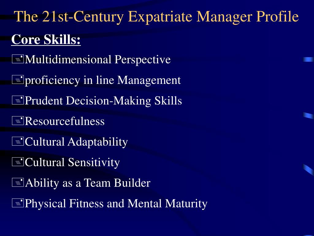 expatriate manager