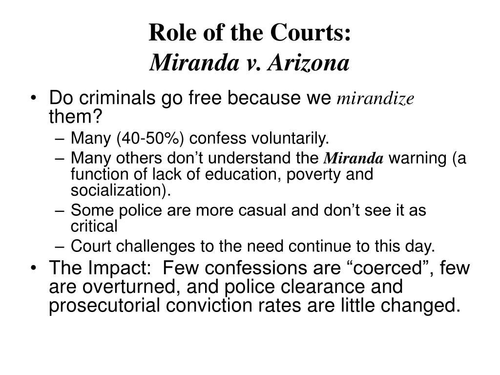 Role of the Courts: