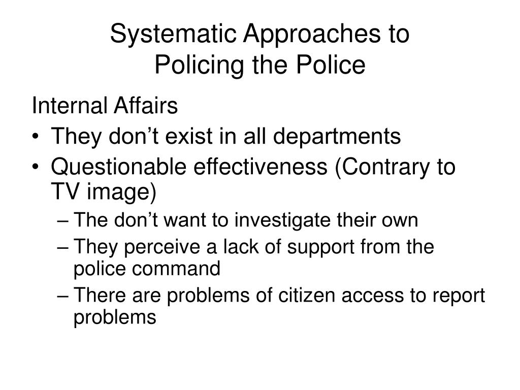 Systematic Approaches to