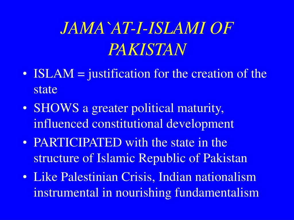JAMA`AT-I-ISLAMI OF PAKISTAN