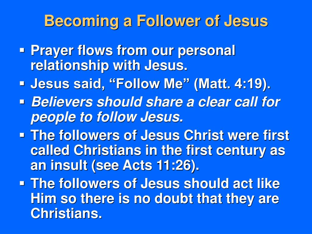 Becoming a Follower of Jesus