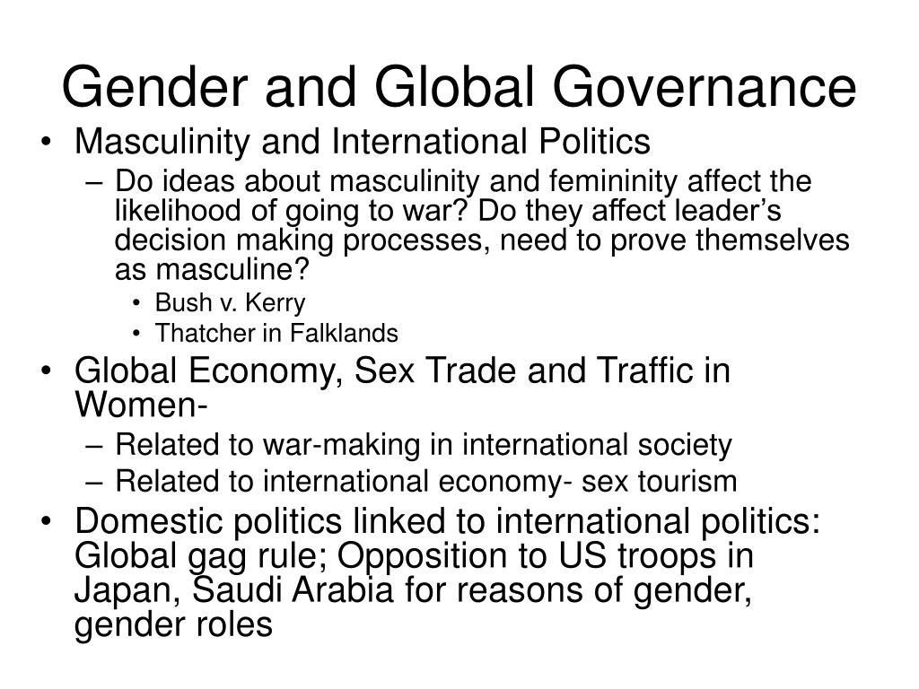 Gender and Global Governance