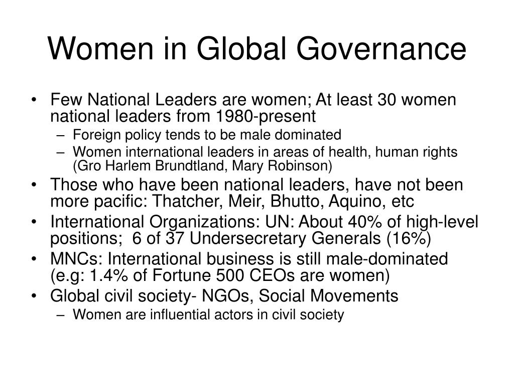 Women in Global Governance