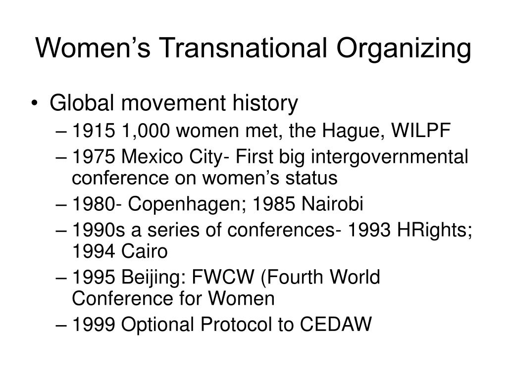 Women's Transnational Organizing