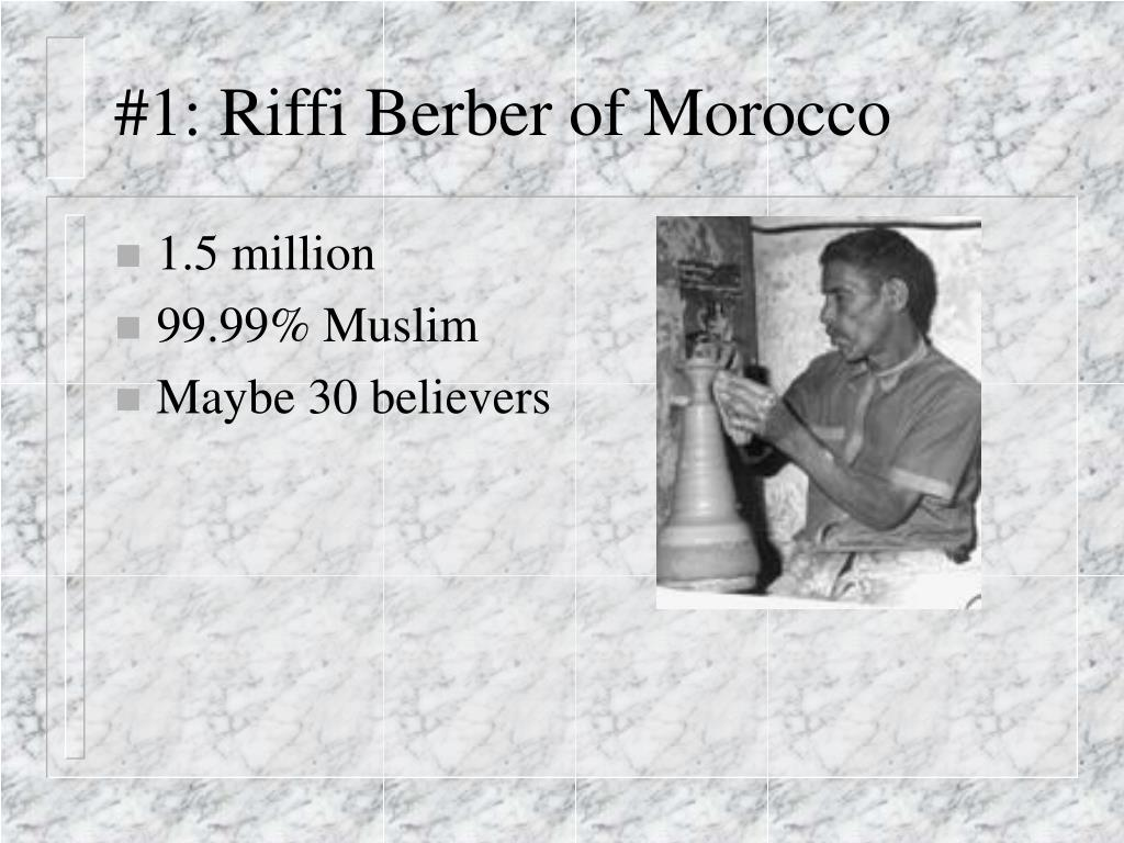 #1: Riffi Berber of Morocco