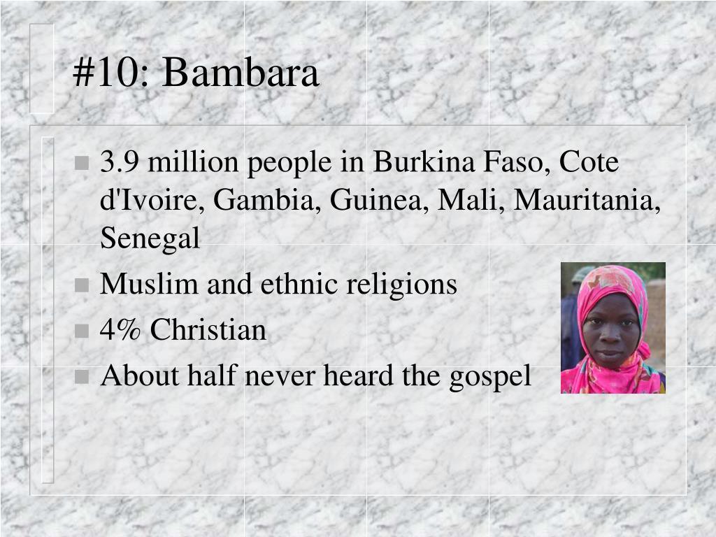 #10: Bambara
