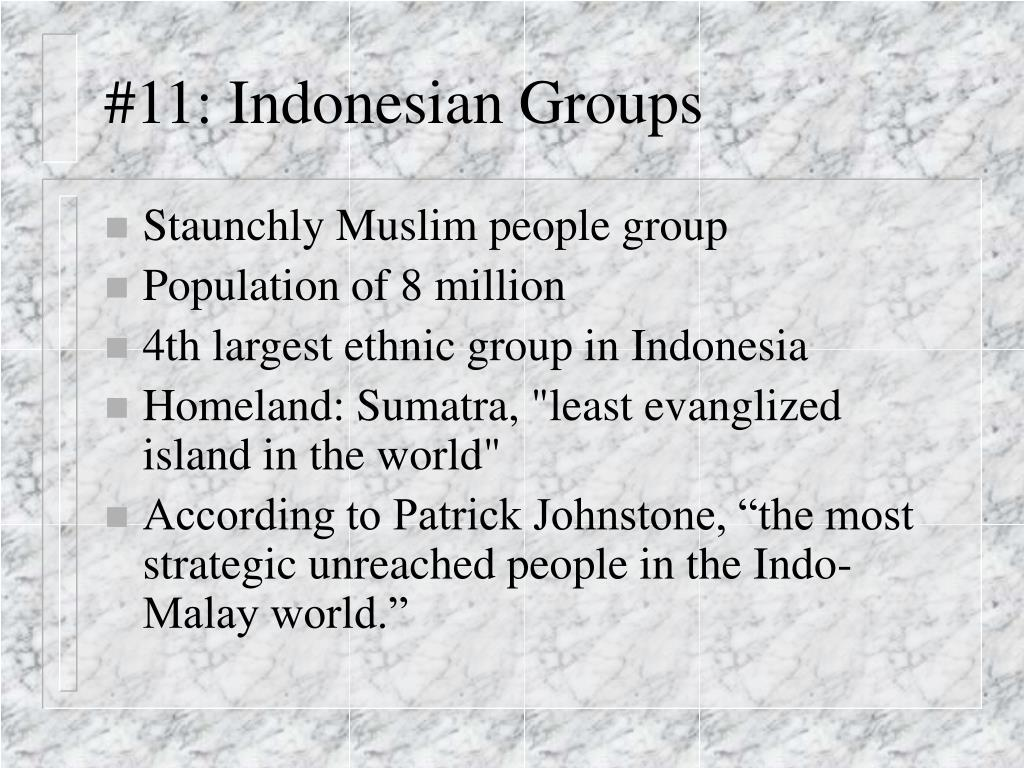 #11: Indonesian Groups