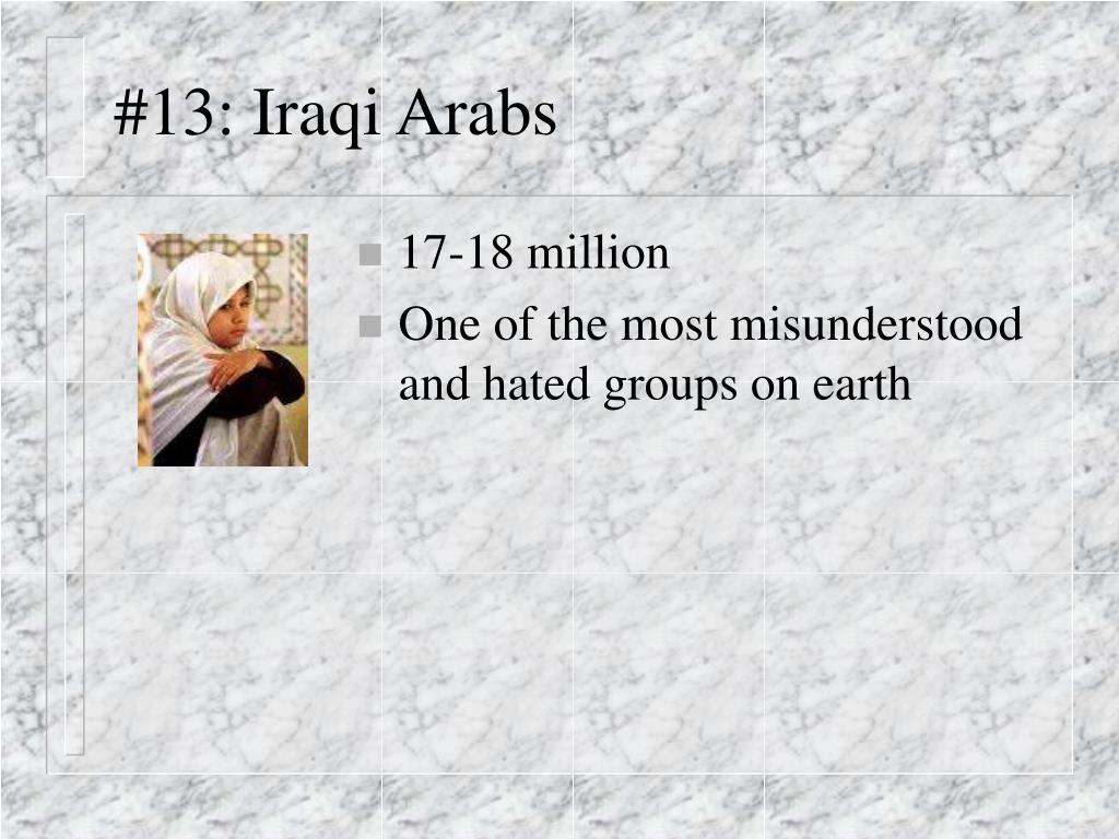 #13: Iraqi Arabs