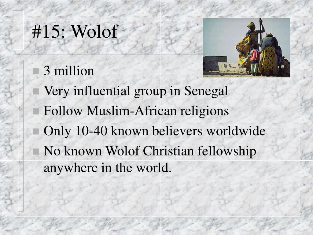 #15: Wolof