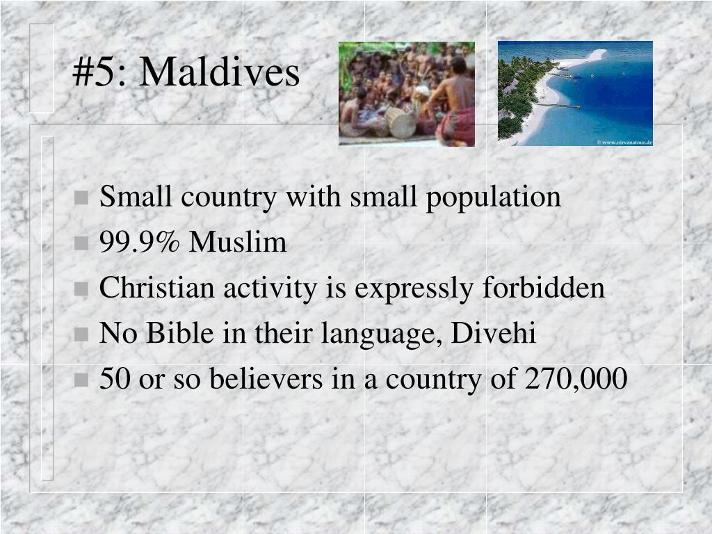 #5: Maldives