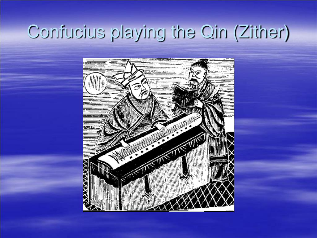 Confucius playing the Qin (Zither)