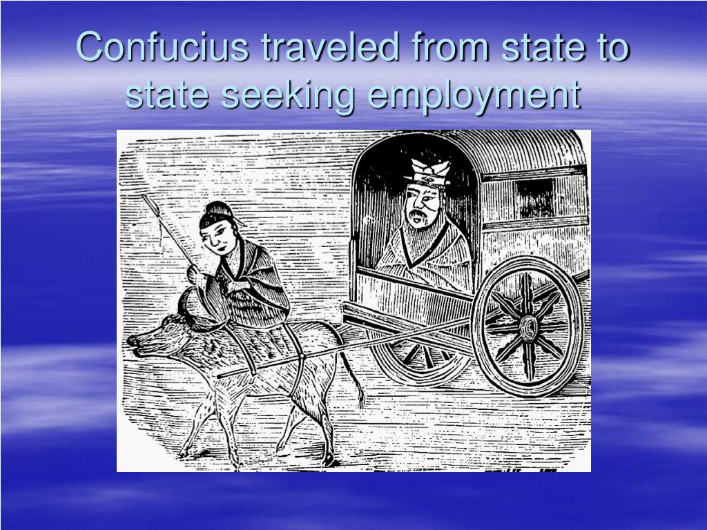 Confucius traveled from state to state seeking employment