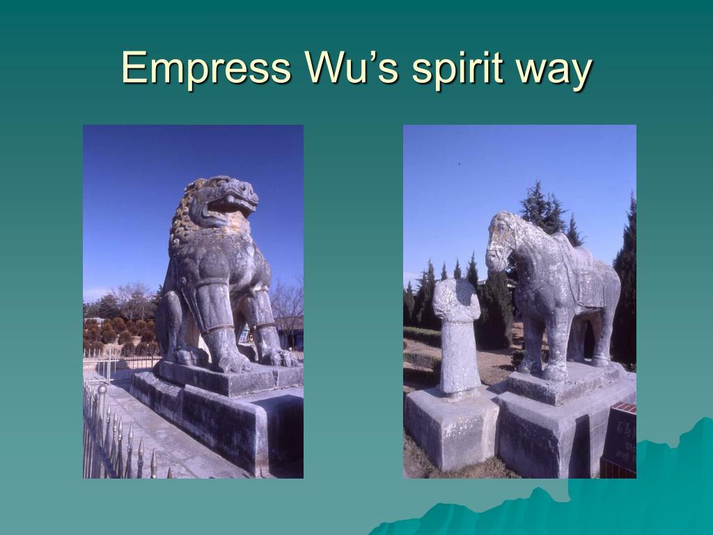 Empress Wu's spirit way