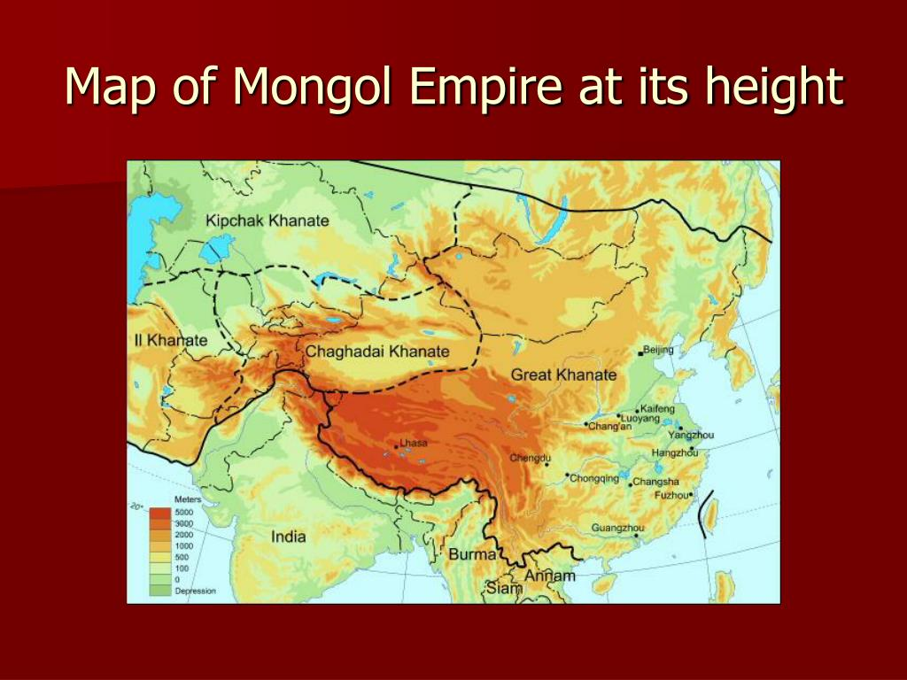 Map of Mongol Empire at its height