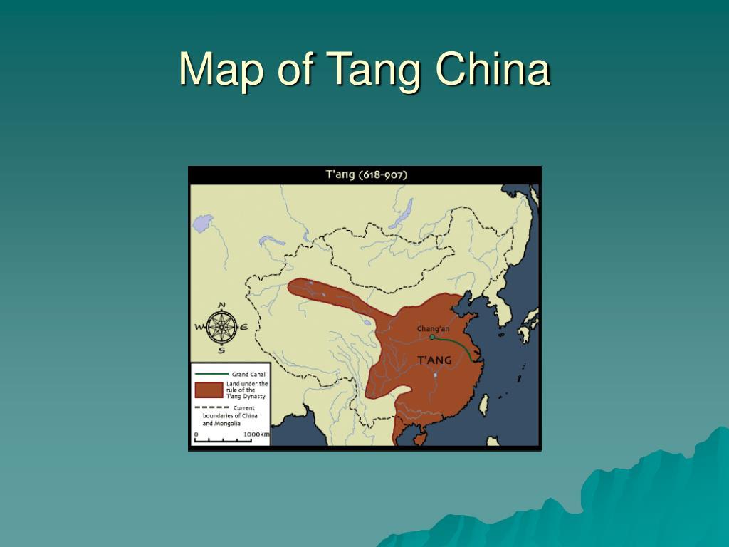 Map of Tang China