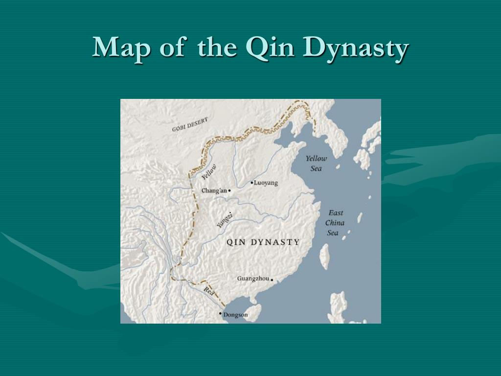 Map of the Qin Dynasty