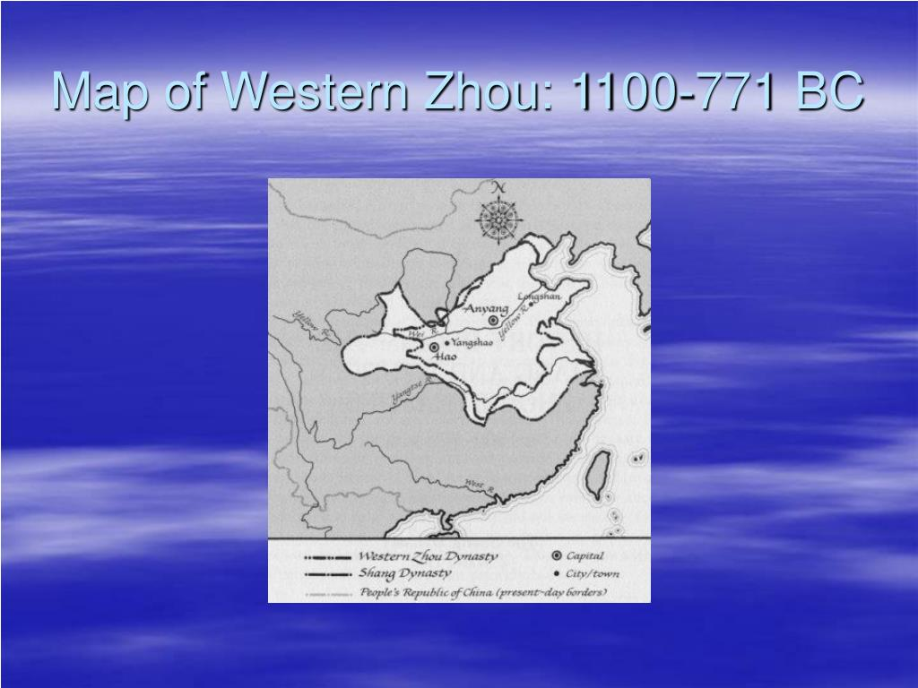 Map of Western Zhou: 1100-771 BC