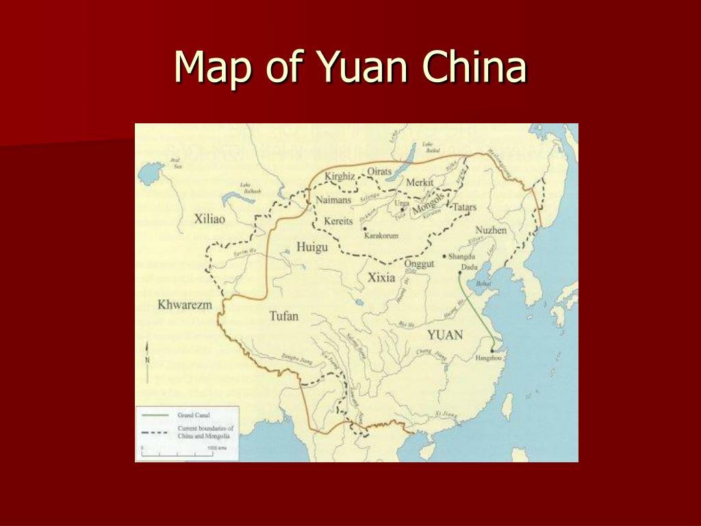 Map of Yuan China