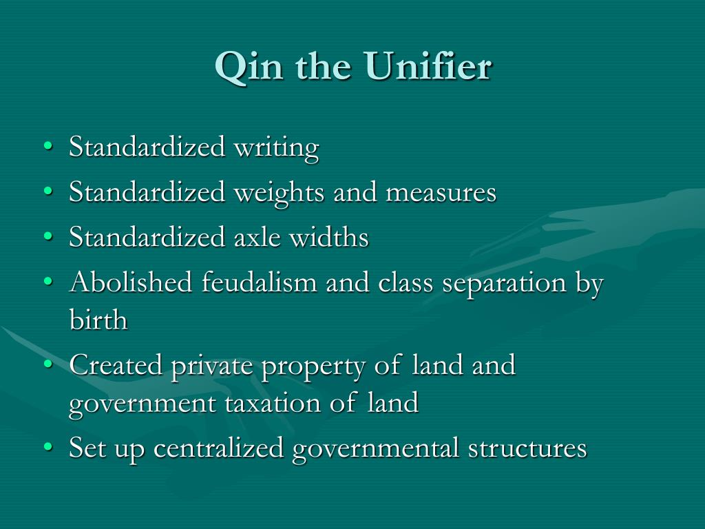 Qin the Unifier