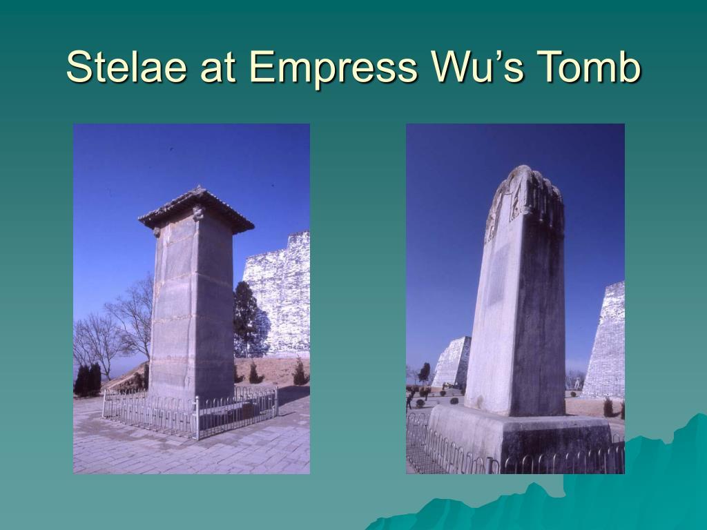 Stelae at Empress Wu's Tomb