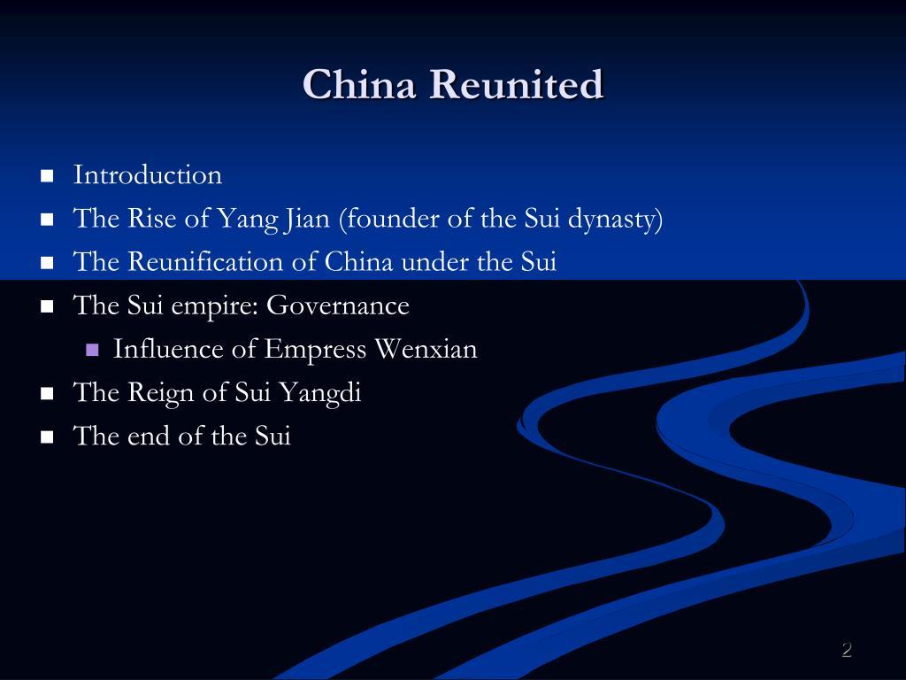 China Reunited