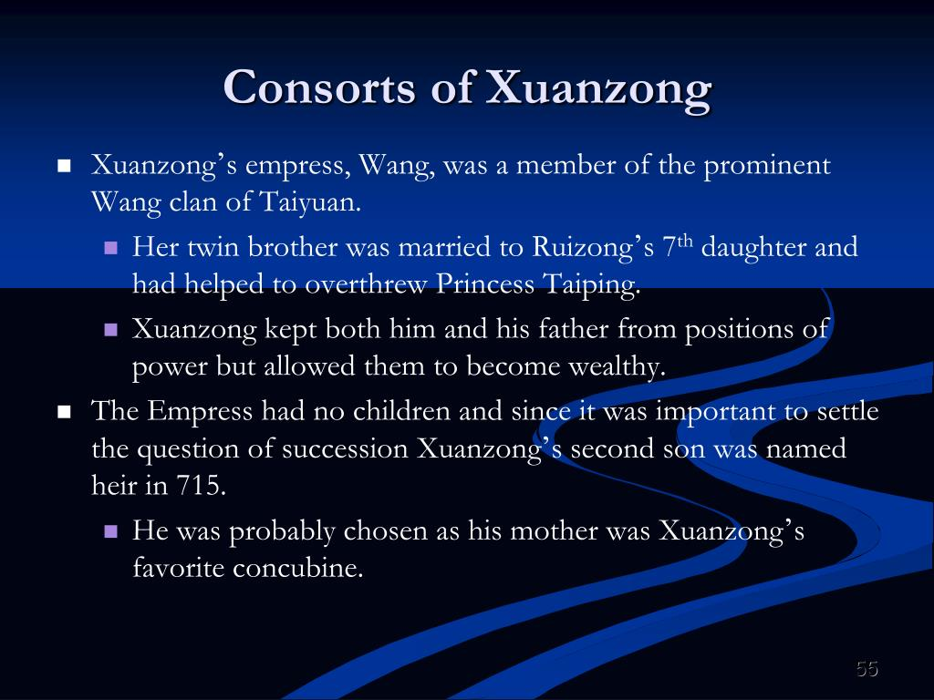 Consorts of Xuanzong