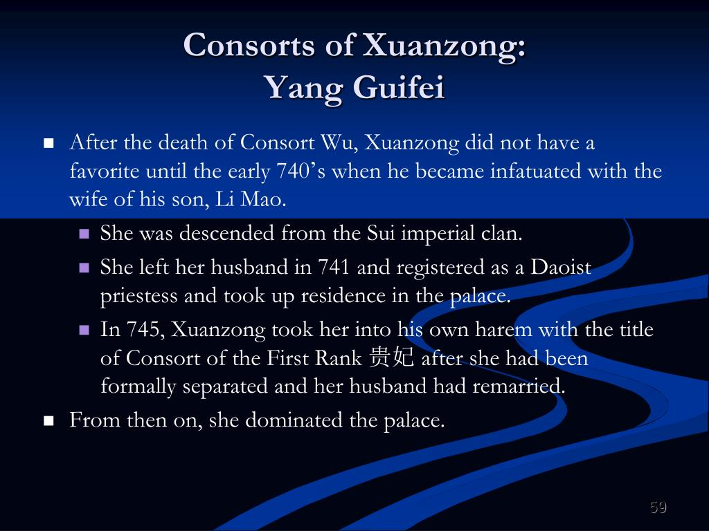 Consorts of Xuanzong: