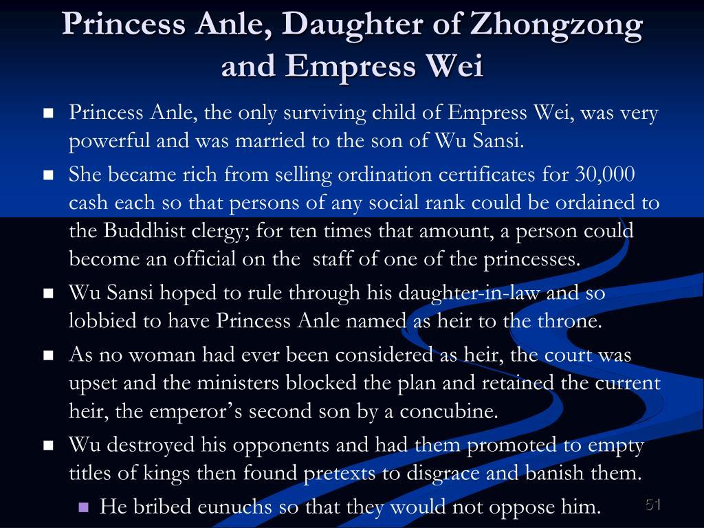 Princess Anle, Daughter of Zhongzong and Empress Wei