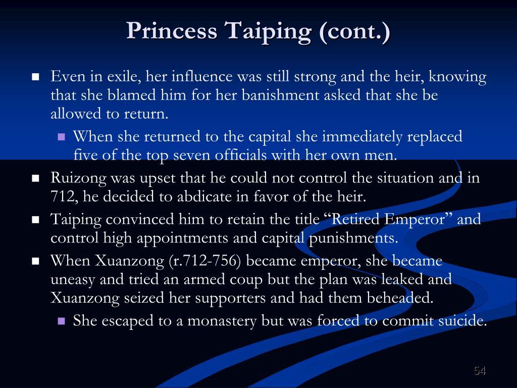Princess Taiping (cont.)