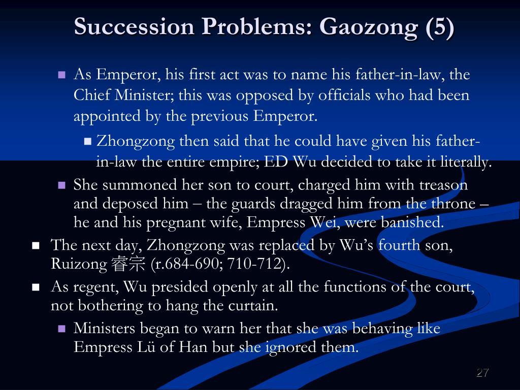 Succession Problems: