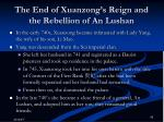 the end of xuanzong s reign and the rebellion of an lushan