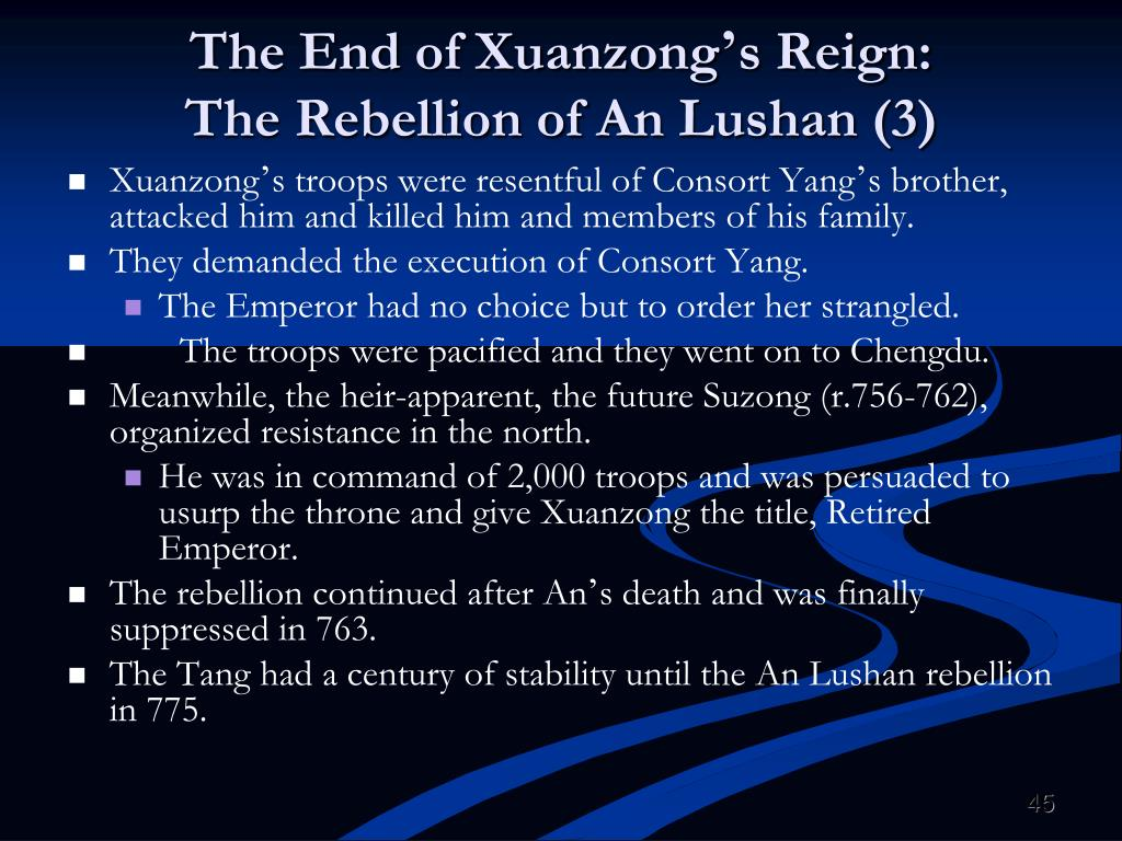 The End of Xuanzong