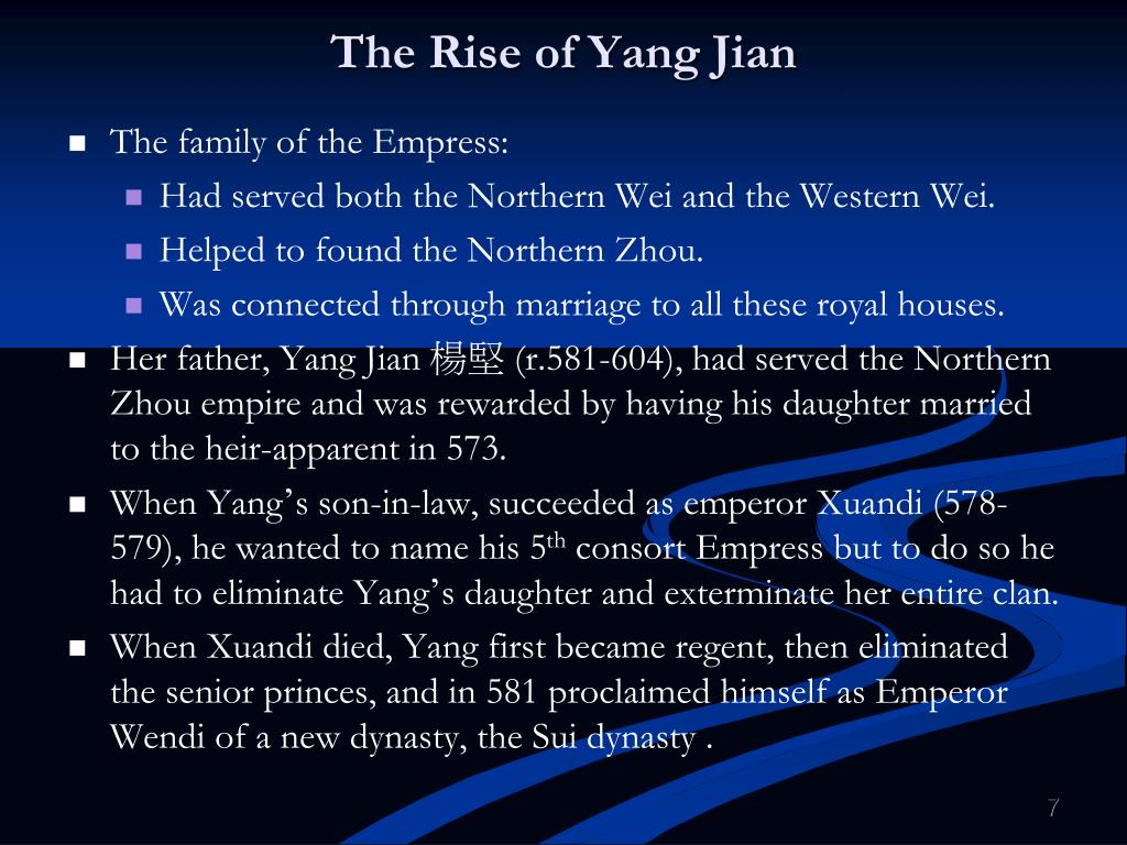 The Rise of Yang
