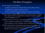 the rise of yang jian