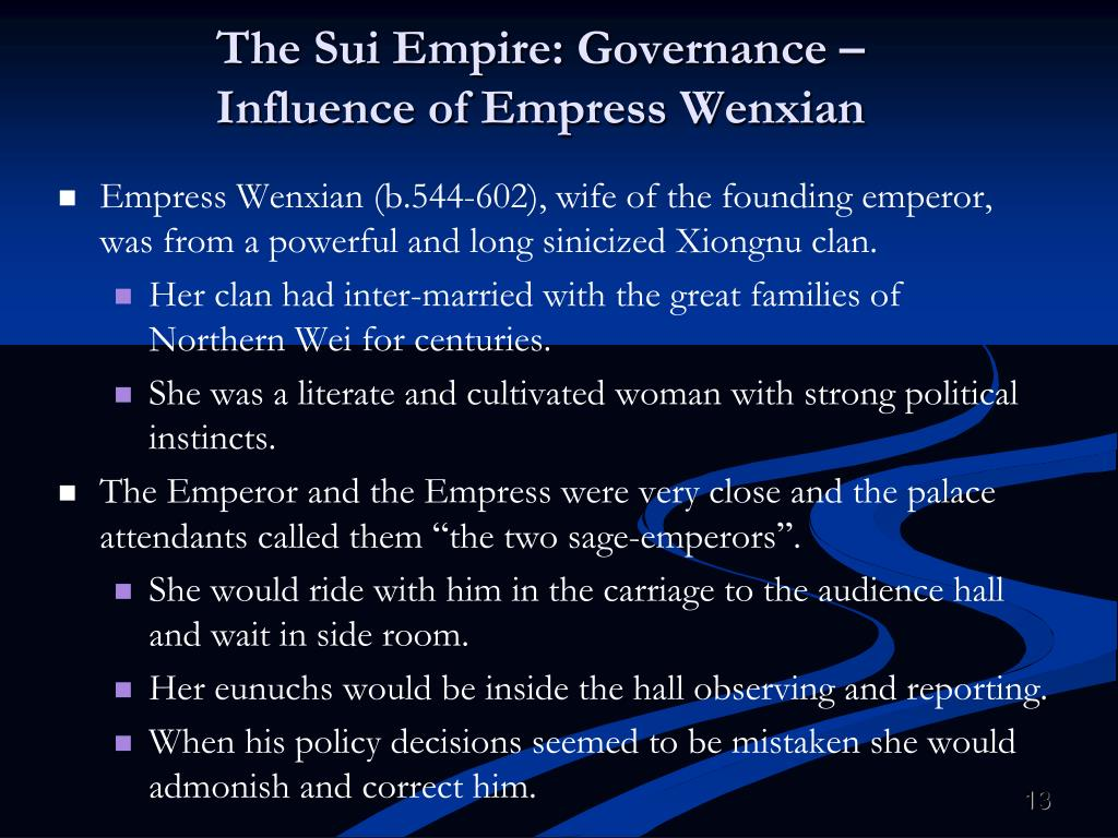 The Sui Empire: Governance –