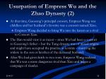 usurpation of empress wu and the zhao dynasty 2