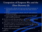 usurpation of empress wu and the zhao dynasty 5