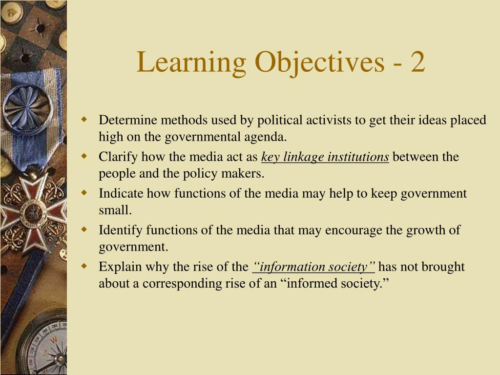 Learning Objectives - 2