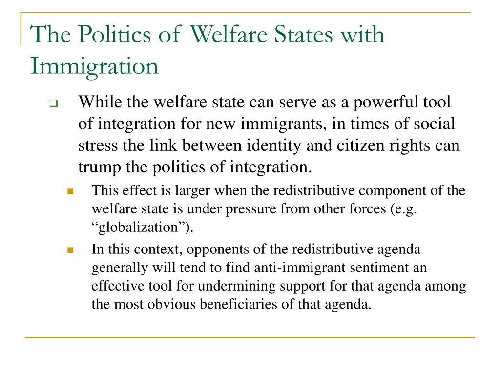 The Politics of Welfare States with Immigration