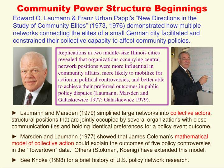 Community Power Structure Beginnings