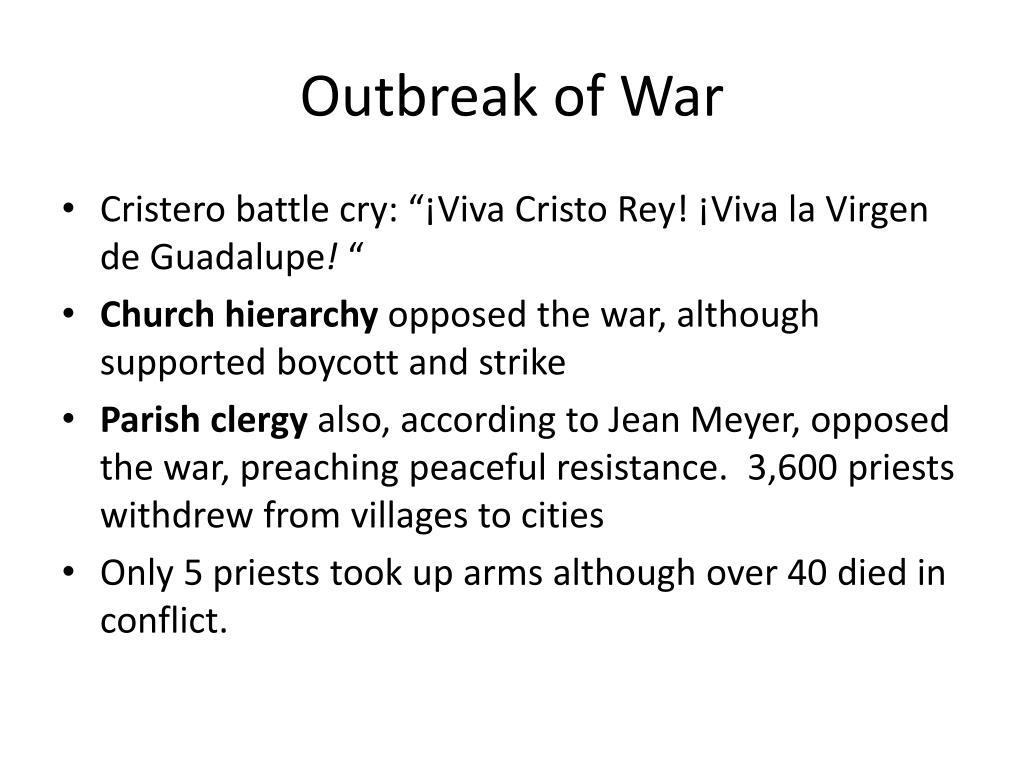 Outbreak of War