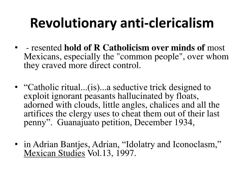 Revolutionary anti-clericalism