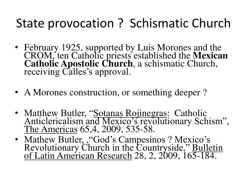 State provocation ?  Schismatic Church