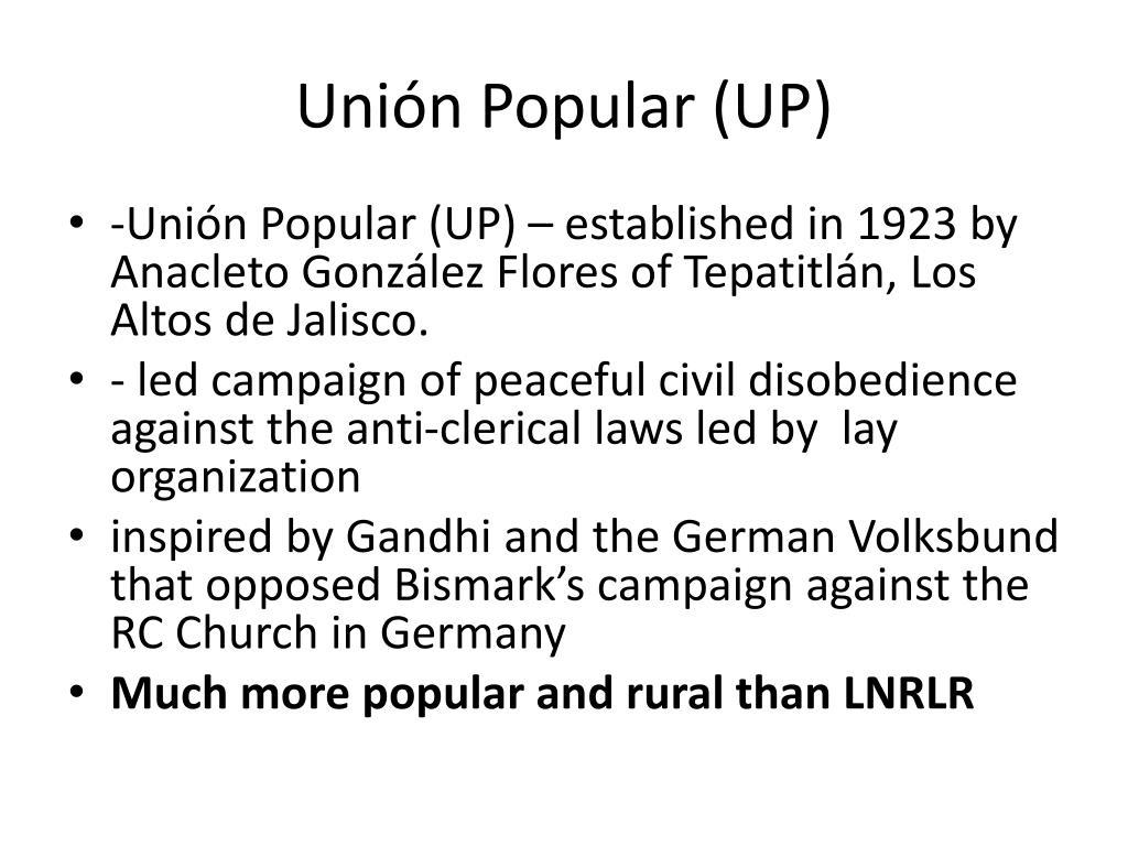 Unión Popular (UP)